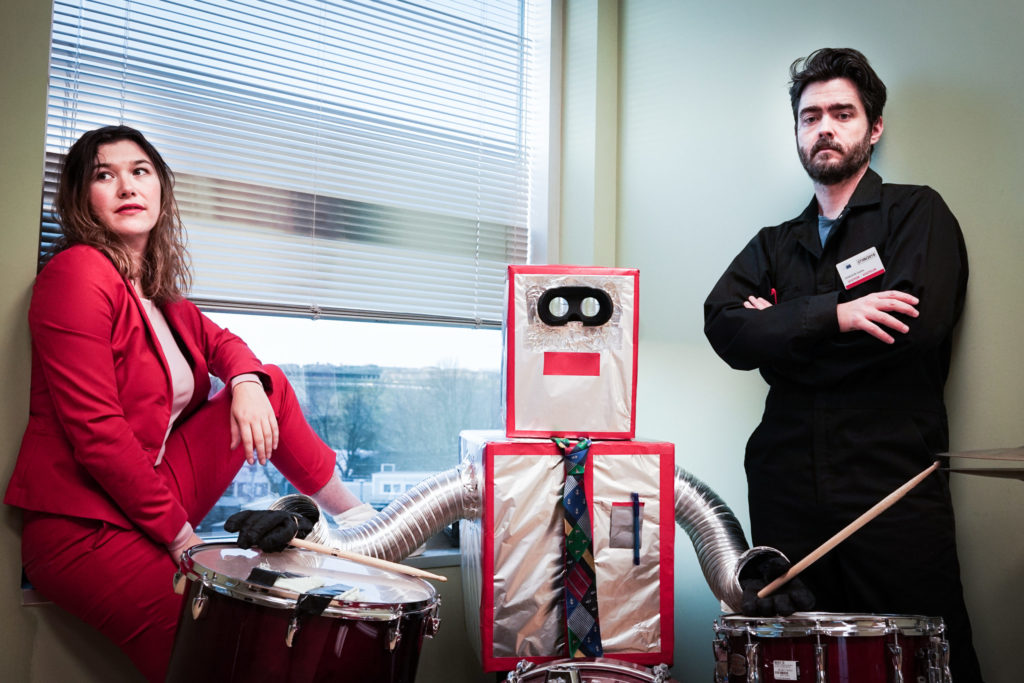 Mathias Kom and Ariel Sharratt form Canadian band The Burning Hell