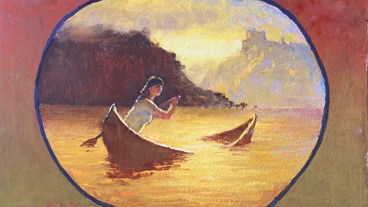 "Cover image of Phoebe Kreutz's EP ""Leaky Canoe"""""